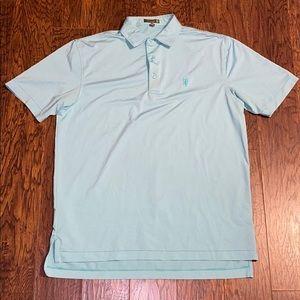 Men's Peter Millar Golf Striped Polo Shirt Sz Med